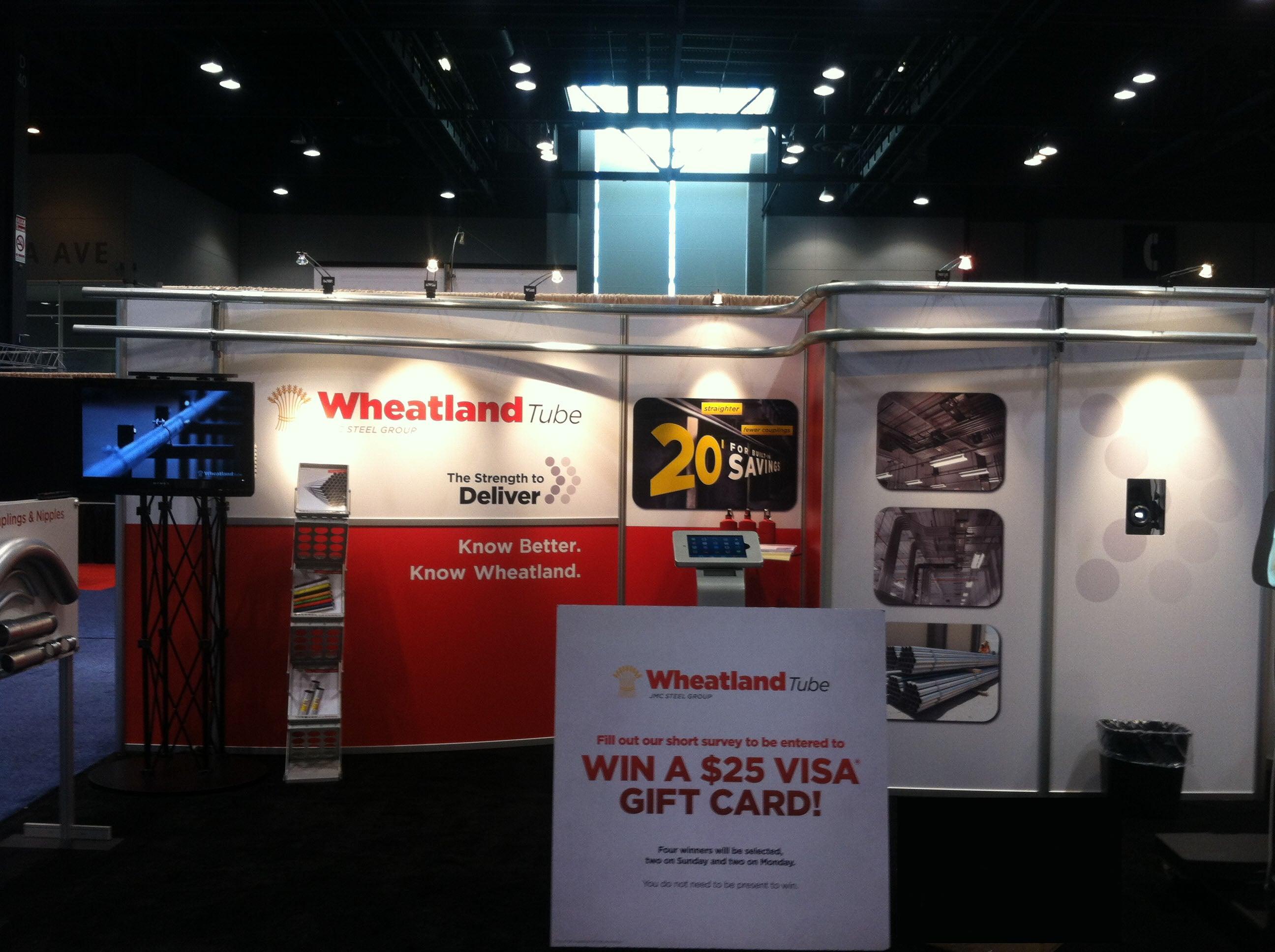 Wheatland Tube Trade Show Booth Main